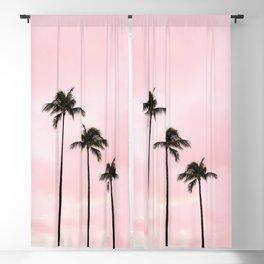 Palm Tree Photography Peach | Blush Pink | Millennial Pink | Miami Blackout Curtain