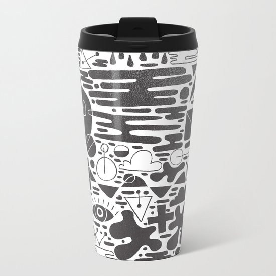 Abstract 5 Metal Travel Mug
