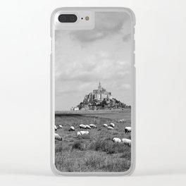 Le Mont Saint Michel 5b Clear iPhone Case
