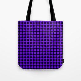 Black and Indigo Violet Diamonds Tote Bag