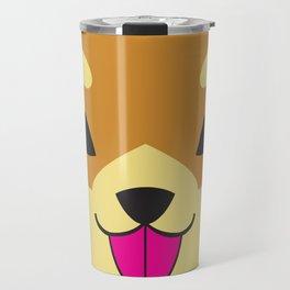 Shiba - Brown Travel Mug