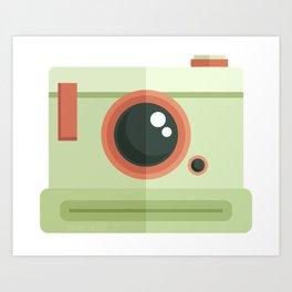 Vintage Camera: Lime Art Print