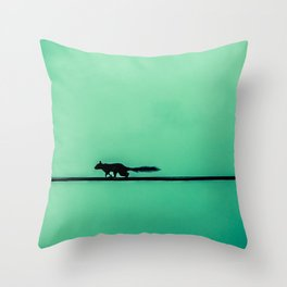 Squirrel on High Throw Pillow