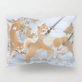Cry Heckin' and Let Slip the Doges of War Pillow Sham