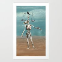 justice Art Prints featuring Justice by tinycog