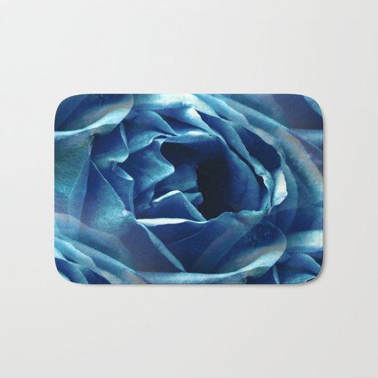 Blue Rose - Seamless Bath Mat