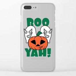 Funny & Cool Halloween Costume Tee Boo Yah! Clear iPhone Case