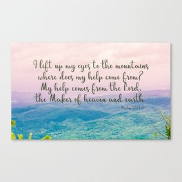 Psalm 121 1 Canvas Print