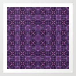 Dark purple quilt pattern Art Print