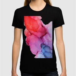Bleeding Rainbow Blend - Alcohol Ink Painting T-shirt