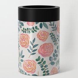 Floral Watercolor Pattern Can Cooler