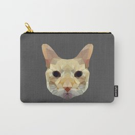 geometric cat head Carry-All Pouch