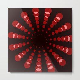 simple red spiral Metal Print