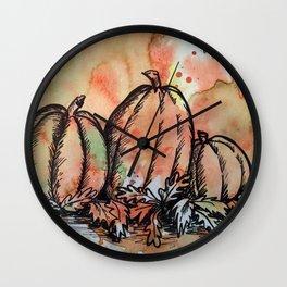 Pumpkin Trio Wall Clock