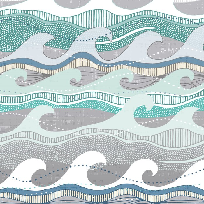 dolphins and waves Leggings
