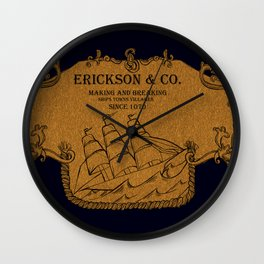 Erickson and Co. Wall Clock