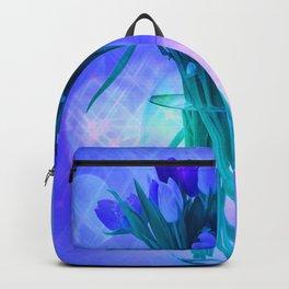 A Blue Bloom for Spring Backpack