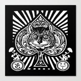 Cheshire Cat Black and White Canvas Print