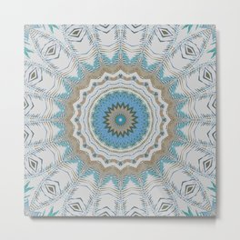 Dreamcatcher Teal Metal Print