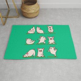Pig Yoga Rug