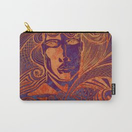 Drawing face girl thriller art Carry-All Pouch