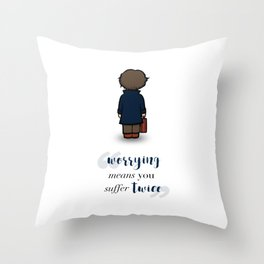Worrying means you suffer twice - Newt Scamander Throw Pillow