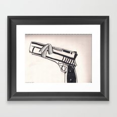 White Bullet Framed Art Print
