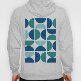 Geometric Abstract Blue Hoody