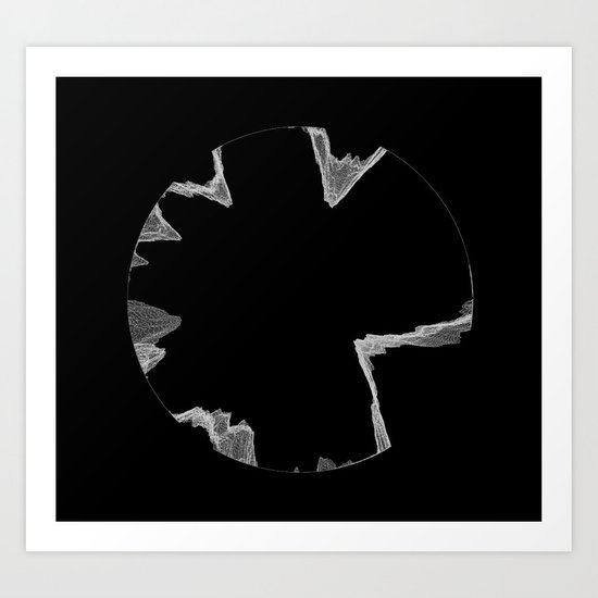 Epsilon on Black Art Print