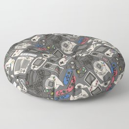 Video Game Controllers in True Colors Floor Pillow