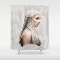 daenerys Shower Curtains featuring Khalessi by Jason Cumbers