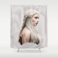 targaryen Shower Curtains featuring Khalessi by Jason Cumbers
