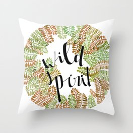 wild yellow Throw Pillow