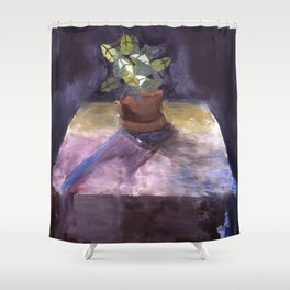 Plant on Table Shower Curtain
