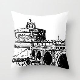 Castel Sant'Angelo, Rome Throw Pillow