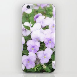 Purple small pansy garden iPhone Skin
