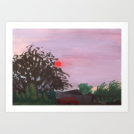 Wildfire Sunset Art Print