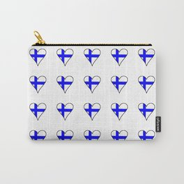 Flag of Finland 4 -finnish, Suomi, Sami,Finn,Helsinki,Tampere Carry-All Pouch
