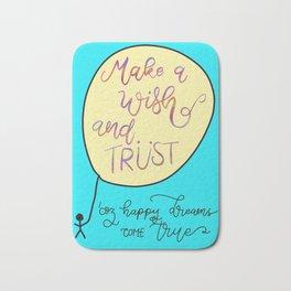 Make a Wish and Trust Bath Mat