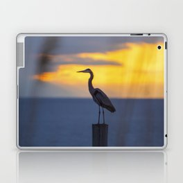Blue Heron at Sunrise Laptop & iPad Skin