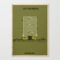 joy division Canvas Prints featuring Joy Division by federico babina