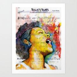 Billie's Blues  Art Print