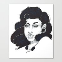50s Canvas Prints featuring 50s girl by Cecil Addams