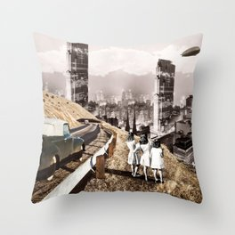 Back to the City Throw Pillow