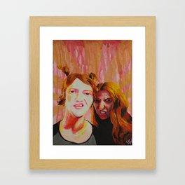 Thug Bunnies  Framed Art Print