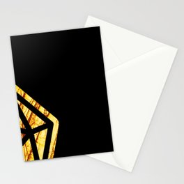 DnD d20 scratched yellow ambar Stationery Cards