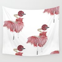 ostrich Wall Tapestries featuring Ostrich by Imanol Buisan