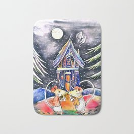 Christmas Mice Bath Mat