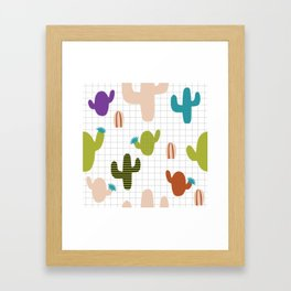 Cactus orange and green #homedecor Framed Art Print
