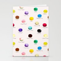 macarons Stationery Cards featuring Macarons   by Viola Brun Designs